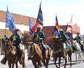 Riders in the Hatch Chile Festival parade