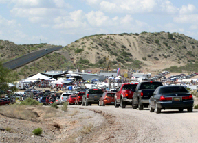 Traffic entering the Hatch Chile Festival
